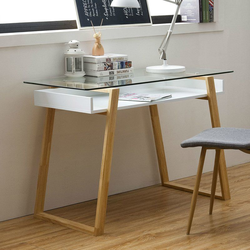 Capel Glass Desk With Images Glass Top Desk Glass Desk Glass Shelves