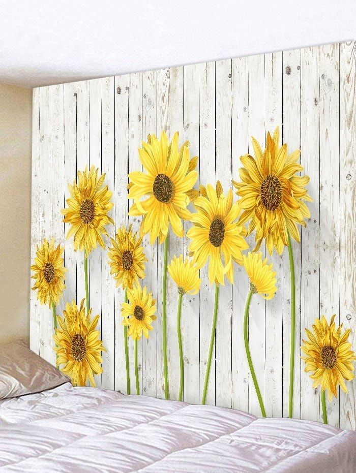 23 Best Sunflower Bedroom Ideas Tapestry Decoration Tapestry
