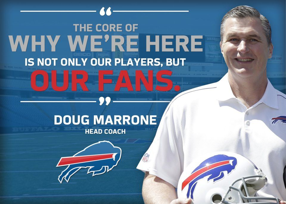 Head coach doug marrone hasnt coached a game at the ralph