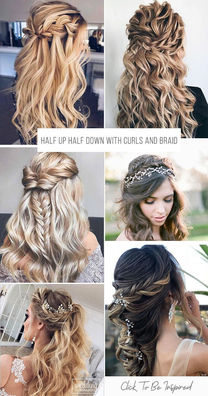 45 Perfect Half Up Half Down Wedding Hairstyles Wedding Forward Hair Styles Wedding Hair Down Braided Hairstyles For Wedding