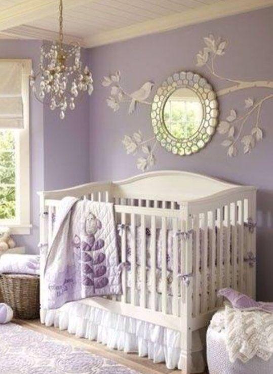 Lavender Nursery Baby Bedroom Room Decor