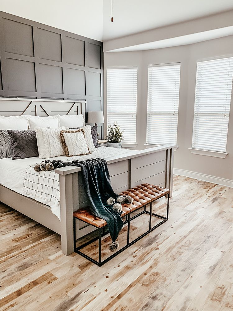 Faux Farmhouse Flooring Makeover with Lifeproof Sheet