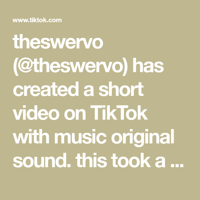 Theswervo Theswervo Has Created A Short Video On Tiktok With Music Original Sound This Took A Lot Of Confidence Blo The Originals Music Trending Videos