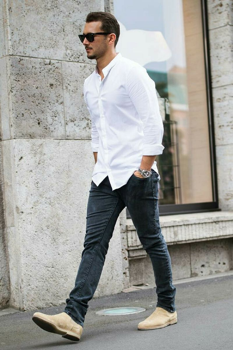 Stylish mens casual shirts photo