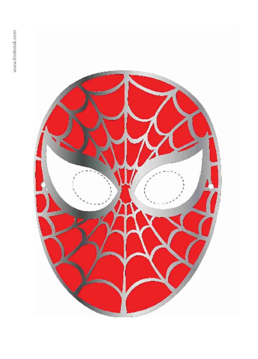 Printable Spiderman Mask Kostumer