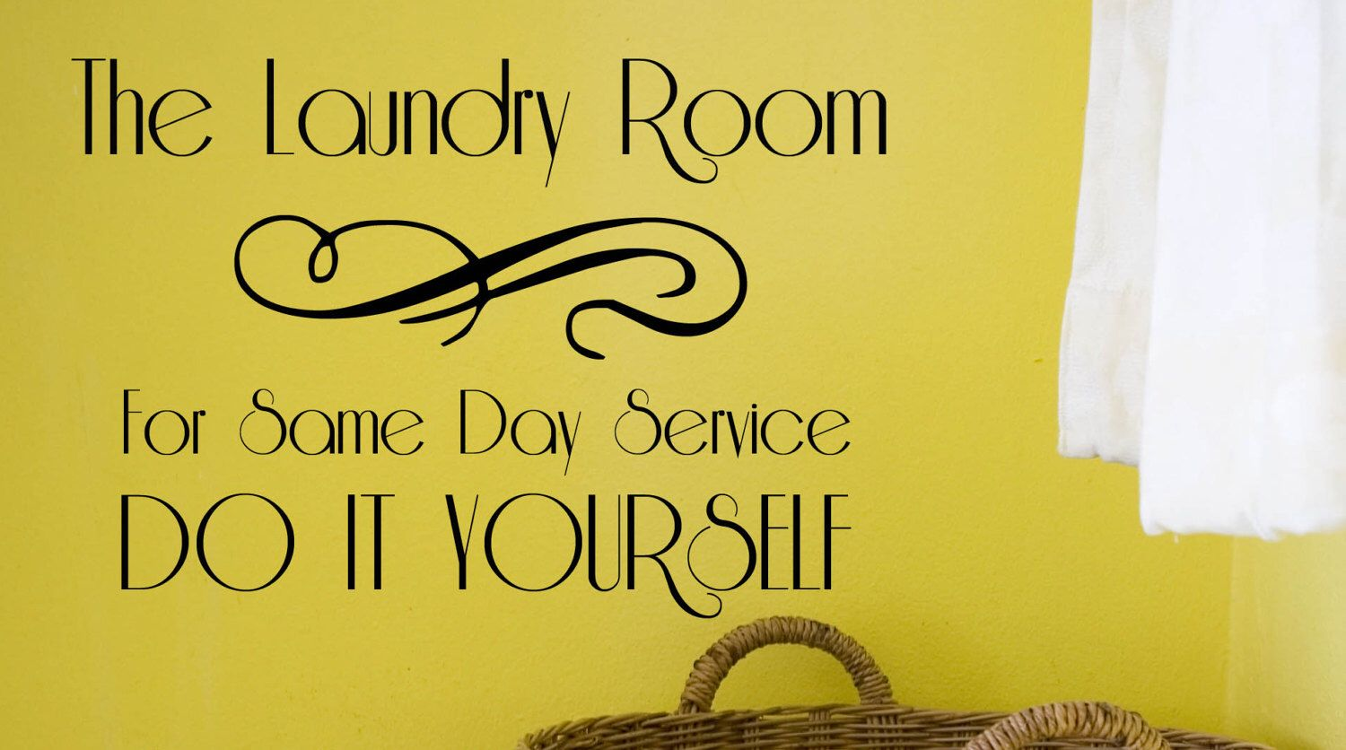 The Laundry Room Vinyl Decal, Laundry Room, Home Decor, Wall Decal ...