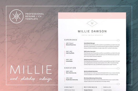 cv template - Resume Cover Letter Template