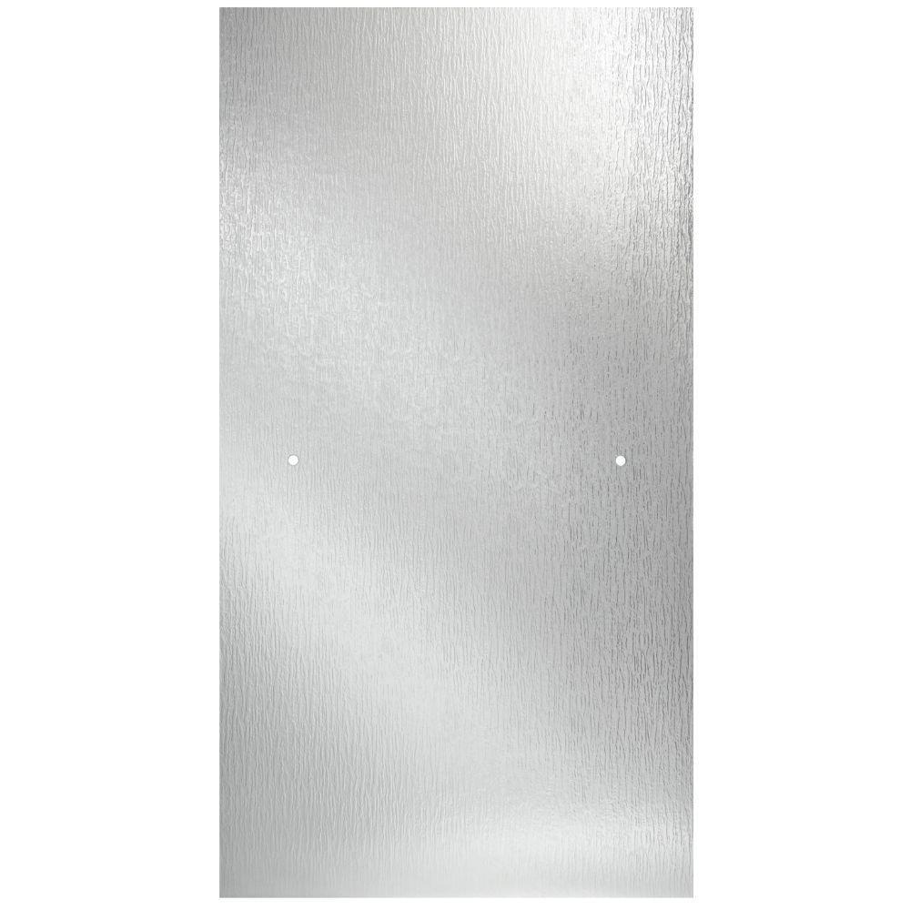 Delta 30 3 8 In X 63 1 8 In X 1 4 In Frameless Pivot Shower Door Glass Panel In Rain For 33 36 In Doors Sdgnp36 Rn R The Home Depot Textured Glass Door Glass Shower Doors