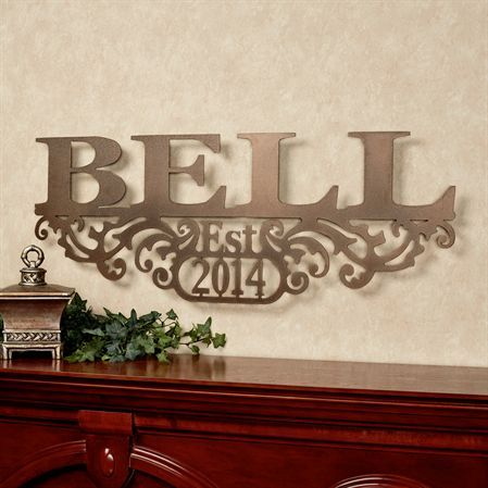 Family Name Wall Art custom outdoor family last name metal sign - metal wall art