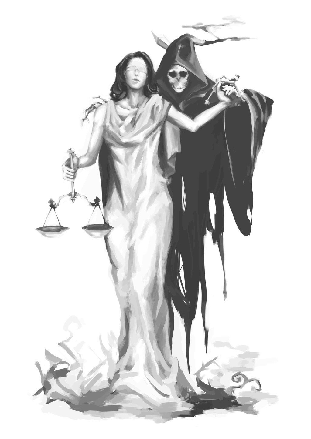 Lady justice and death tattoo pinterest lady justice tattoo lady justice and death buycottarizona