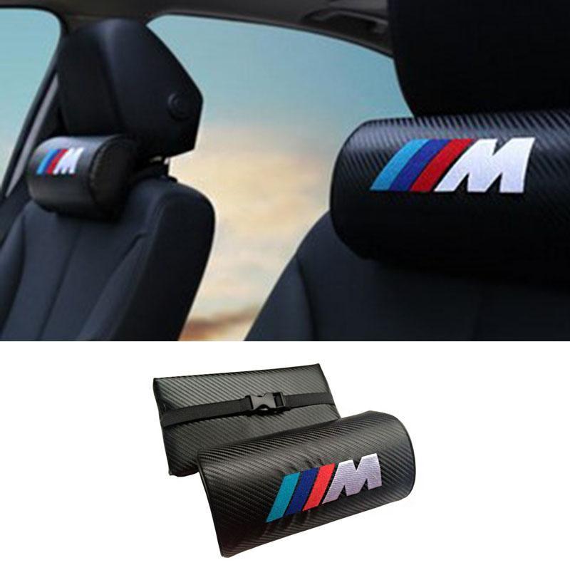 2x Car Headrest Neck Safety Pillow For BMW M E46 E90 E60 E39 E36 F10 F30  F20 E30 E34 E87 E91 E92 E83 E70 E53 X5 X3 X1 X6 M3 M5 77e7c6fa42a4