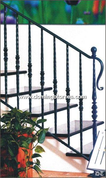 Baranda de escalera buscar con google escaleras pinterest barandilla de escalera - Escaleras hierro forjado ...