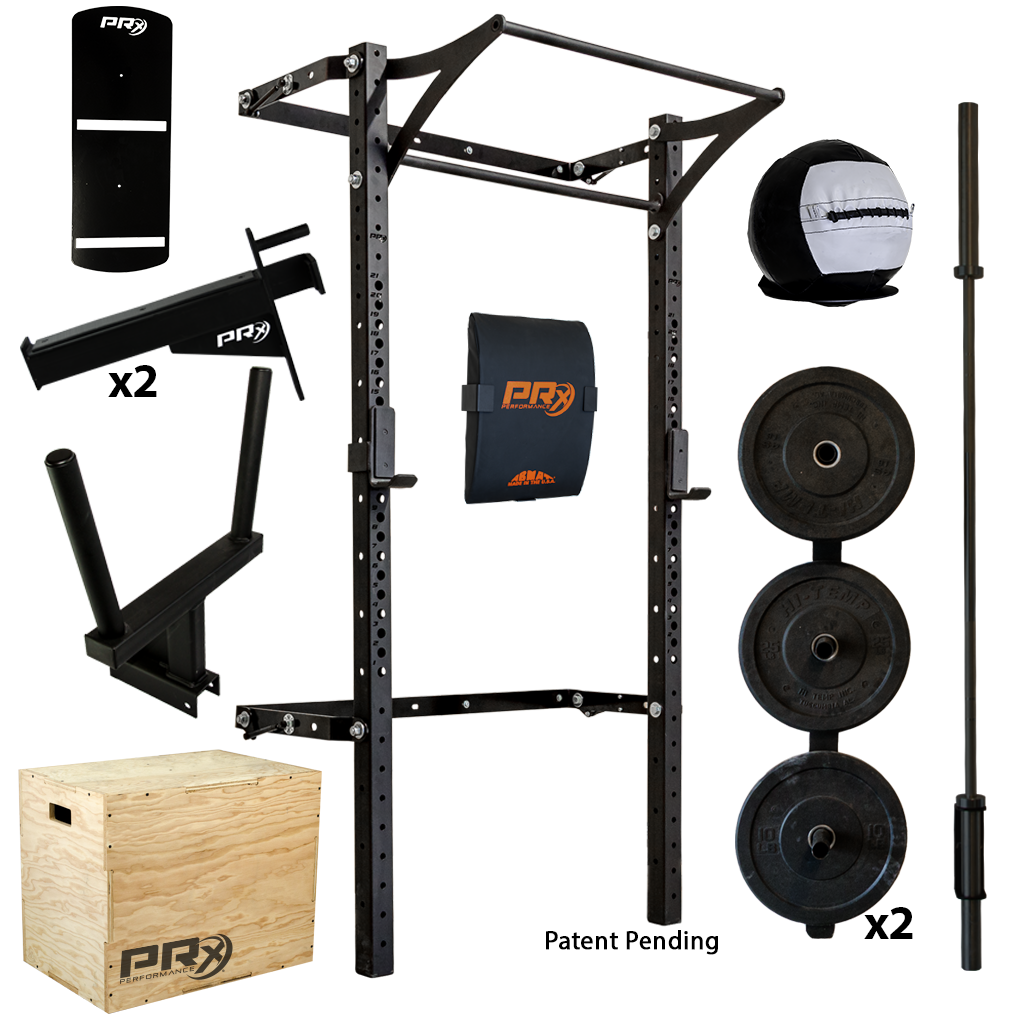 men s profile acirc reg pro package complete home gym we the o jays the 3x3 profile rack in blue weight plate storage and single bar holders