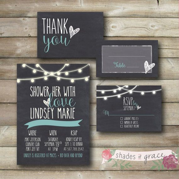 DIY Bridal Shower Invitation Instant Download by ShadesOfGrace1