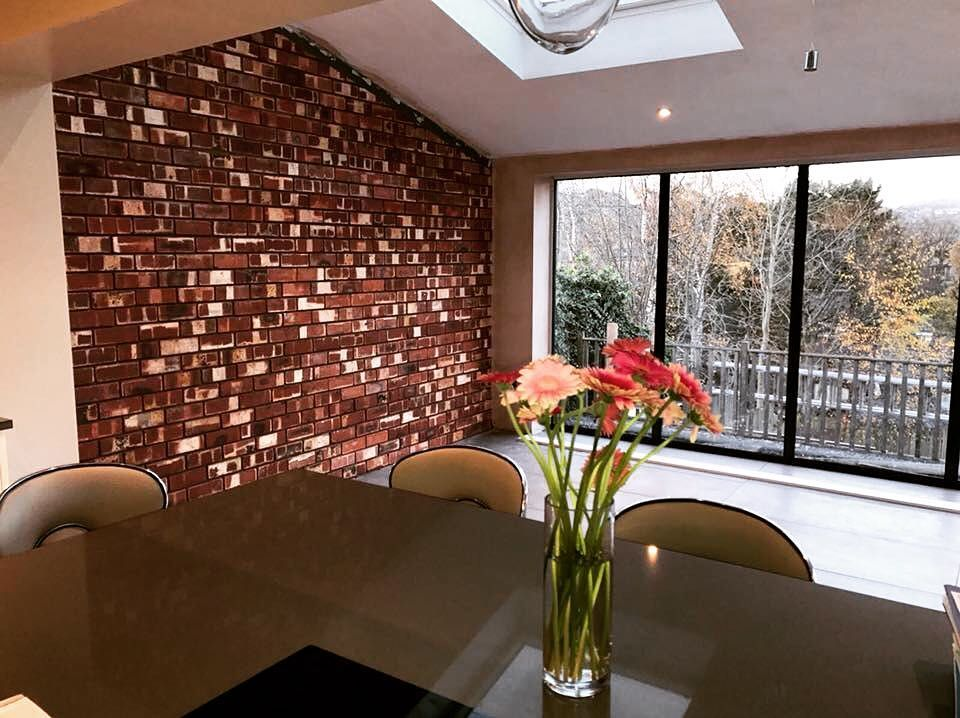 Another feature wall on a kitchen extension we did for Peak