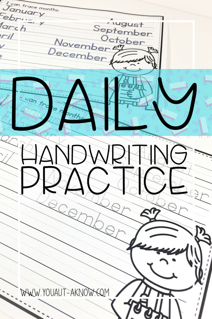 everyday writing practice handwriting and tracing. Black Bedroom Furniture Sets. Home Design Ideas