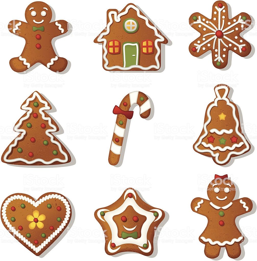 Illustration with gingerbread cookies Gingerbread
