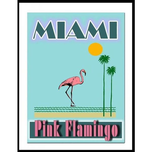 Miami Pink Flamingo Art Print, Retro Miami Art, Art Deco Print ...