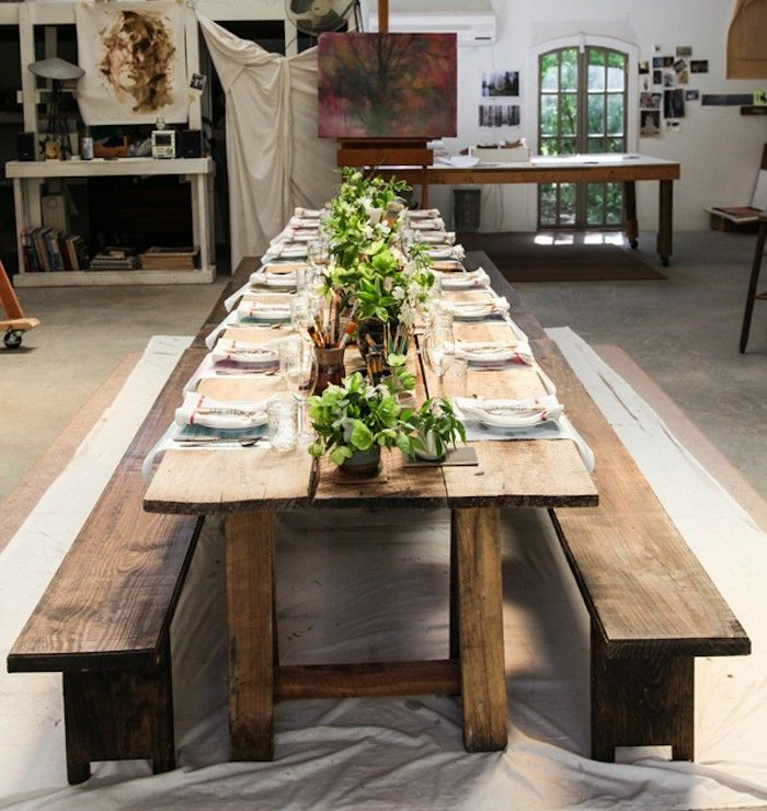Steal This Look: Dinner in an Artist's Atelier - Remodelista