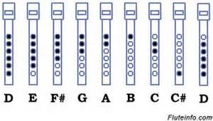 Fingering Chart For Tin Whistle HttpWwwFluteinfoComFingering