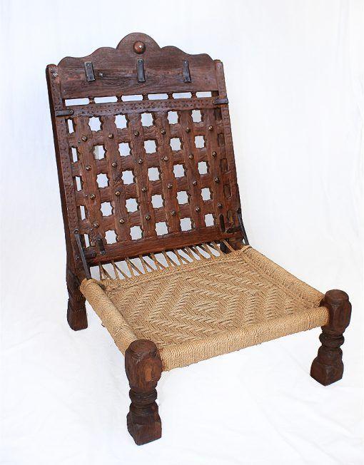 Antique Teak Wood Jute Folding Chair Low Height Jute Folding Chair Homedecor Jute Chair Furniture Saudiarab Wood Folding Chair Chair Custom Made Furniture