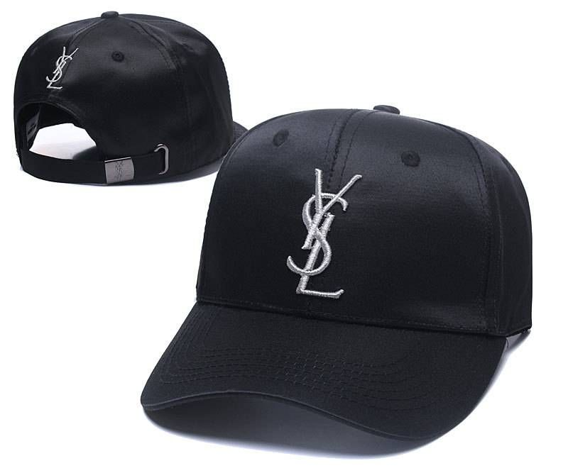 2b1273717ad YSL Caps Yves Saint Lauren Embroidery Adjustable Dad Hat- Black ...
