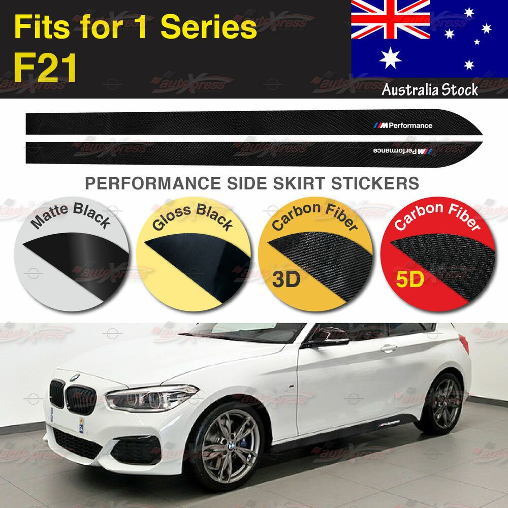 M Performance Side Skirt Sill Vinyl Decal Stickers For Bmw F21 1 Series 2 Pcs Au Bmw Bmw F45 Vinyl Decal Stickers