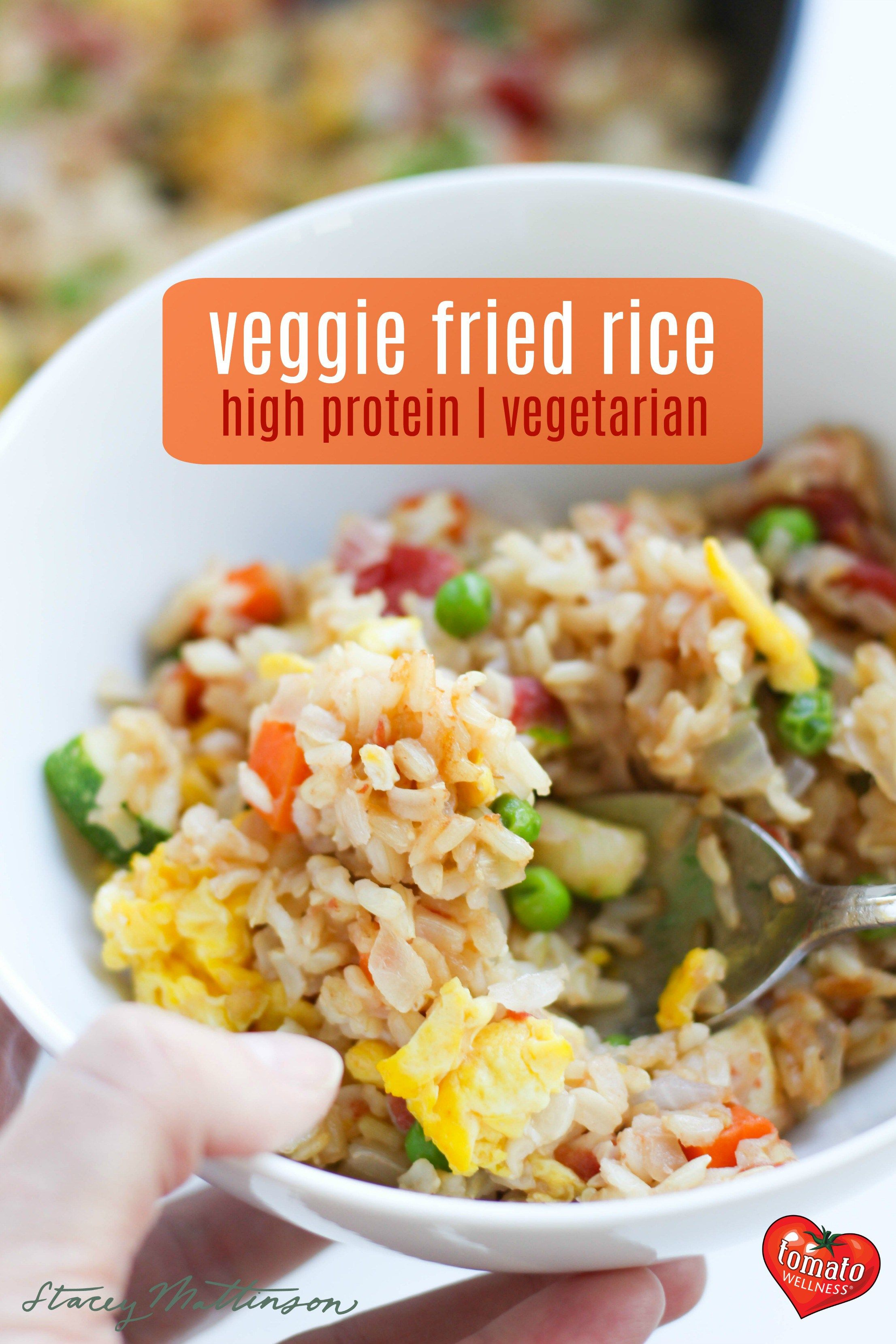 Veggie Fried Rice With Tofu Vegetarian