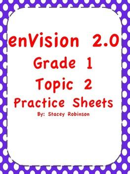 enVision Math 2.0 Topic 2 Practice Sheets Grade 1   enVision Math ...