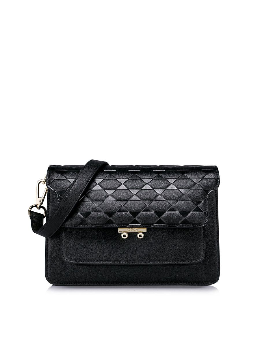 #AdoreWe #StyleWe NUCELLE Cowhide Leather Casual Small Push Lock Crossbody - AdoreWe.com