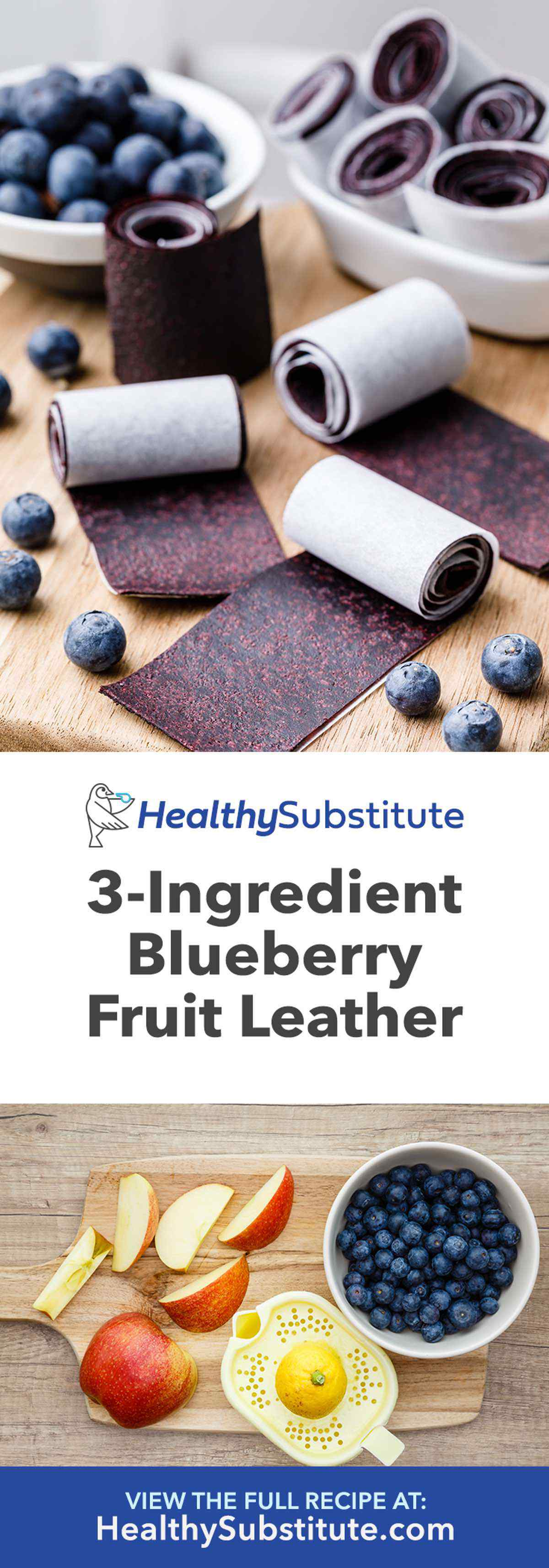 Ridiculously Good 3-Ingredient Blueberry Fruit Leather - Healthy Substitute
