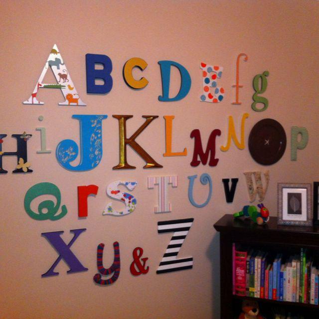 Caroline's alphabet wall