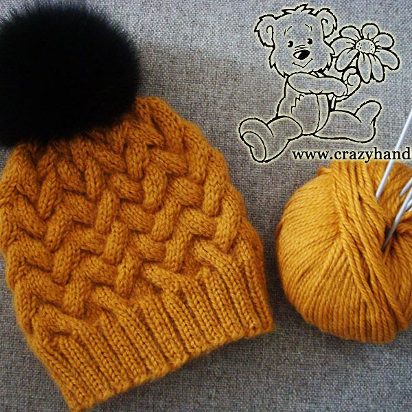 Sandy Cable Knitted Hat Pattern · Crazy Hands Knitting | Not My ...