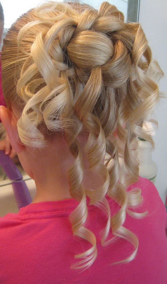 Marvelous 1000 Images About Flower Girl Hair Style On Pinterest Flower Hairstyle Inspiration Daily Dogsangcom