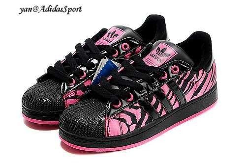 eff75b9936e Adidas Originals Superstar II Dame Sneakers Sort/Pink Zebra HOT SALE! HOT  PRICE!