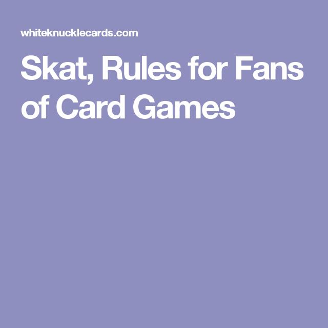 Rules For Skat Card Game