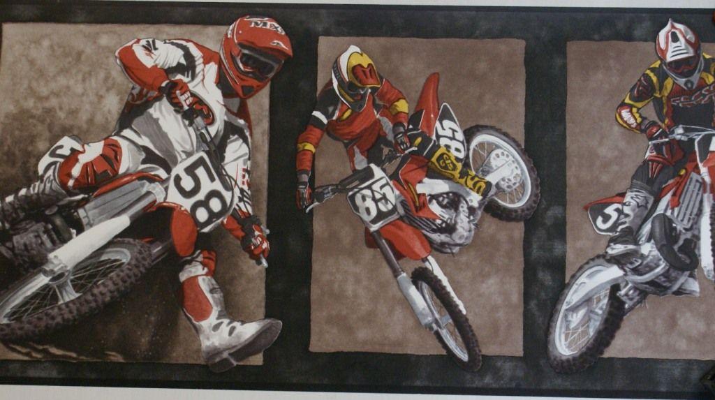 Motocross Dirt Bikes Wallpaper Border 13c2 Sp909508