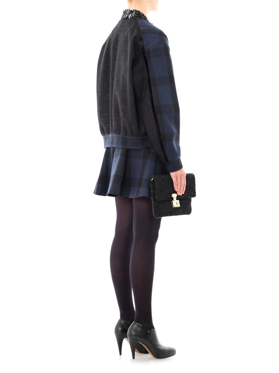 Embellished collar plaid jacket | No. 21 Except the heels....boots for me.