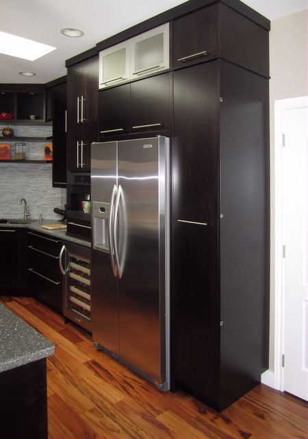 Kitchen Cabinets Around Fridge build cabinet around refrigerator | kitchen remodel | pinterest