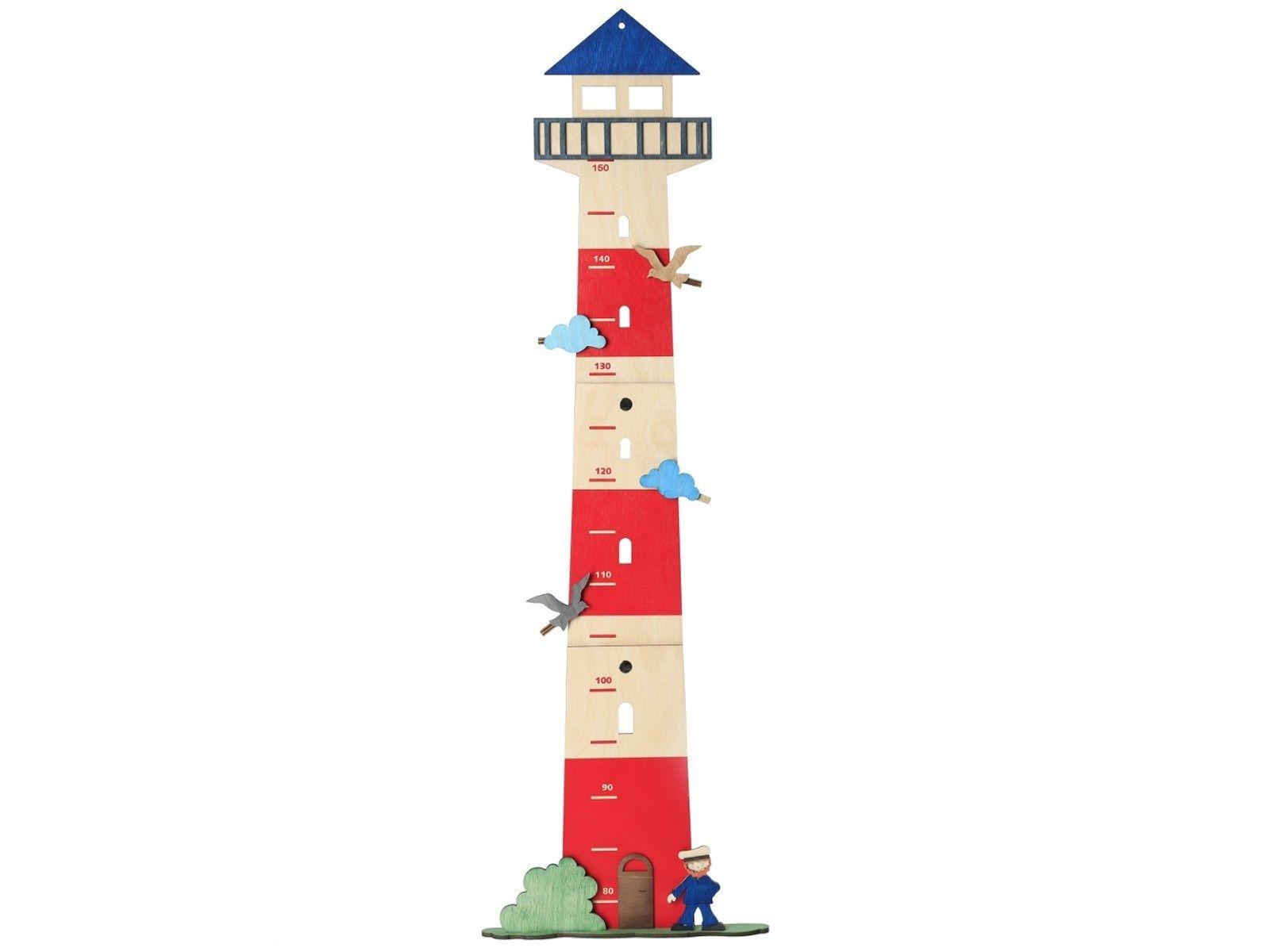 "Messlatte aus Holz ""Leuchtturm"", 87x21,5x3 cm Messlatte"