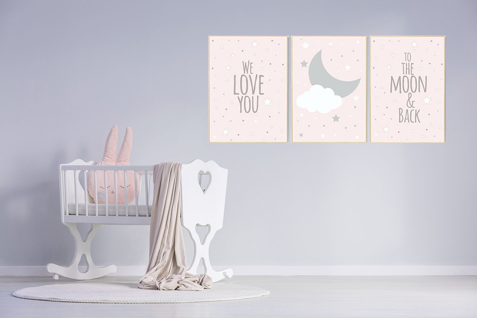 We Love You To The Moon And Back, Pink Nursery