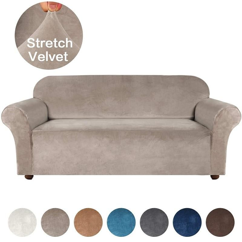 High Grade Velvet Stretch Sofa, Slipcovers For Furniture