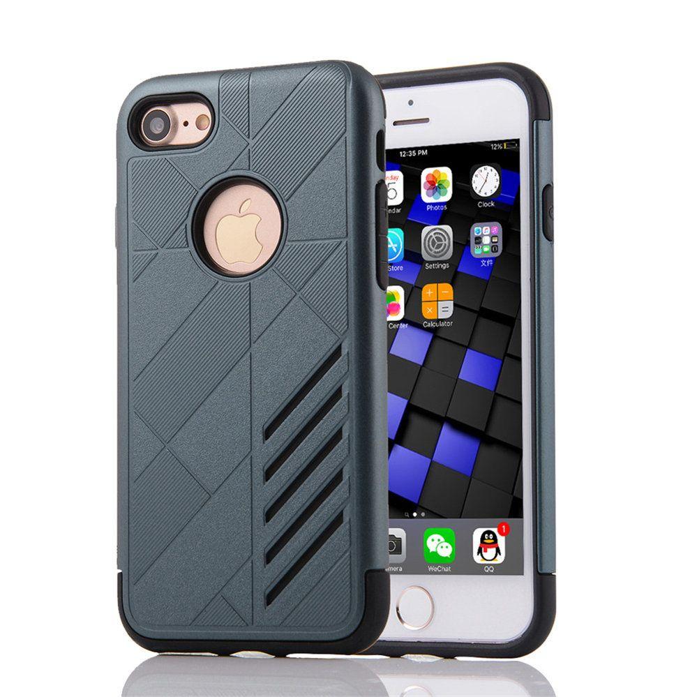 For Apple Iphone 7 Split Joint Pc Tpu Hybrid Cell Phone Back Goospery Plus Sky Slide Bumper Case Red