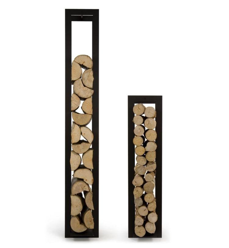 Holzlege Blade, schwarz lackiert aus stahl, unterschiedliche Höhen ...