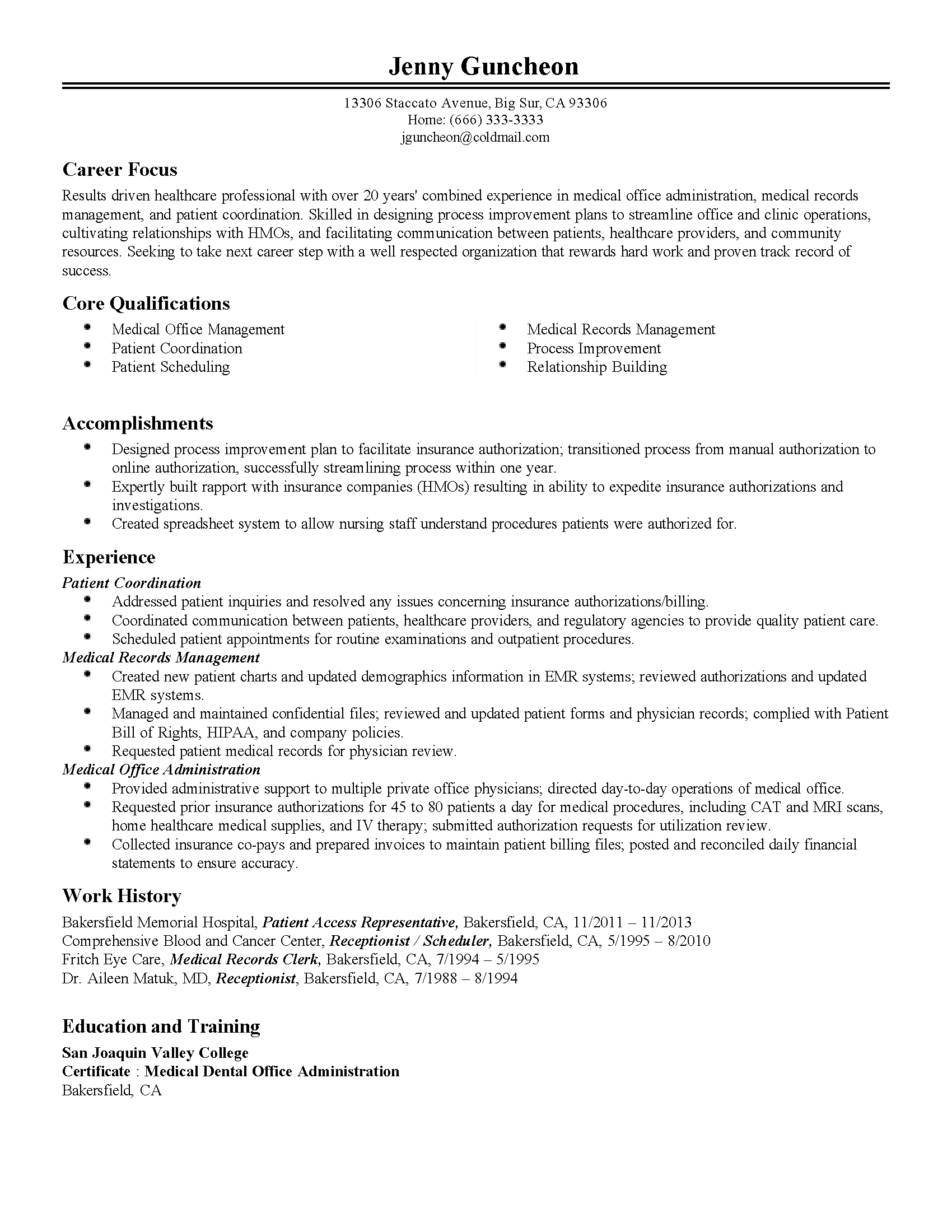 Cover Letter Shipping And Receiving Manager Job Description For Resume Templates Medical Office Administration
