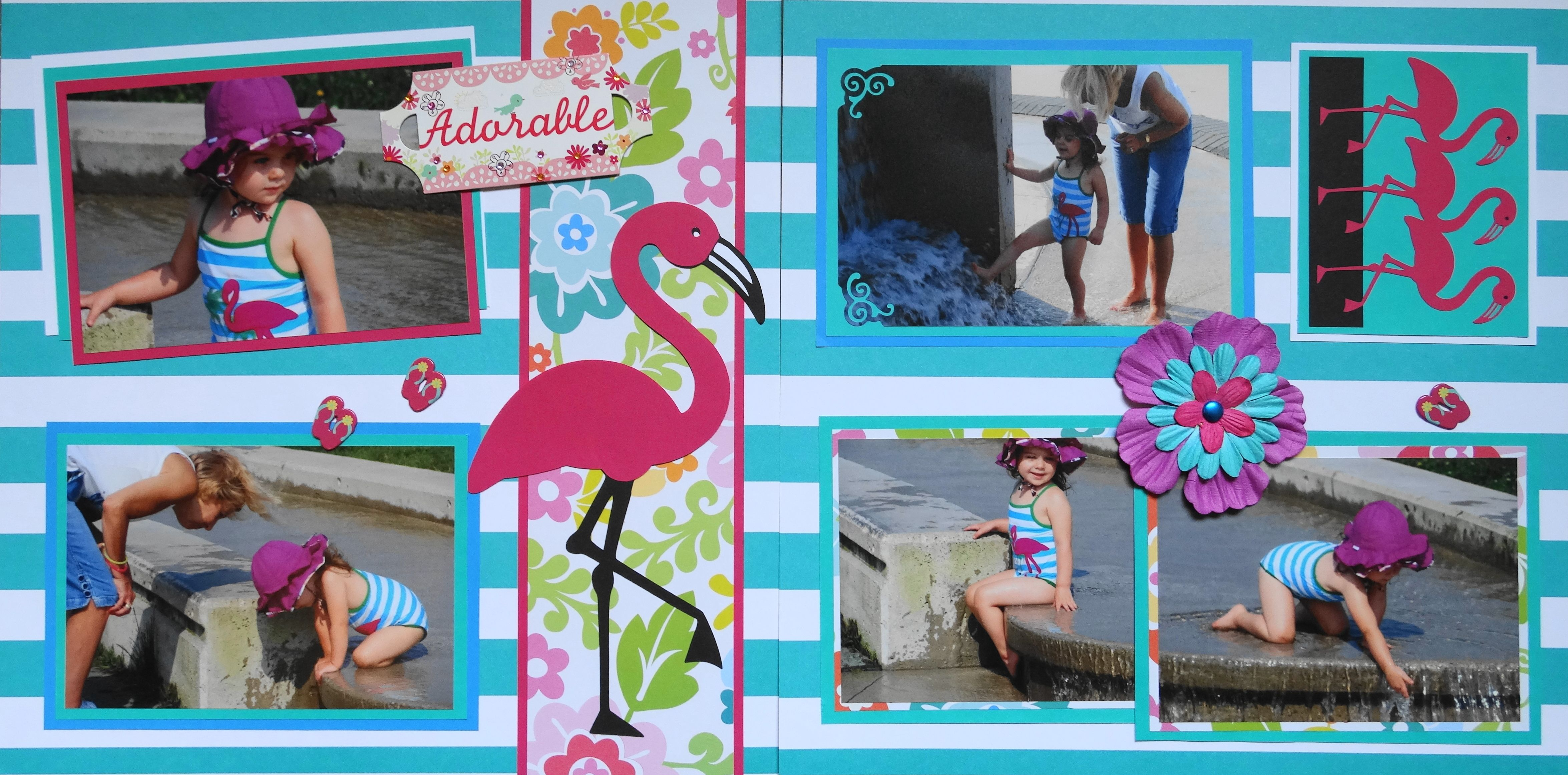 Photo Album Baby Girl Scrapbook Girl Photo Album 8x10 4x6 5x7 Picture Journal Baby Photo Album Pink Blue Flower