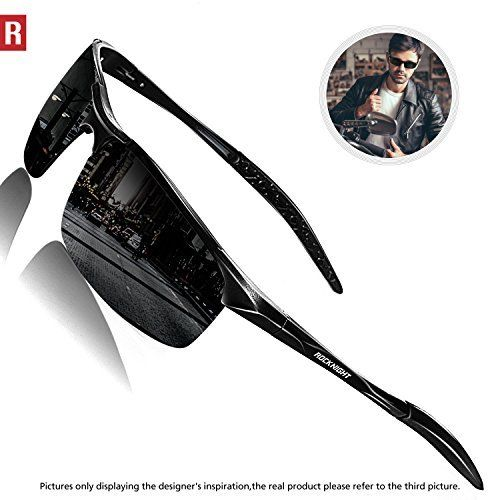 bf4df893c0 ROCKNIGHT Driving Polarized Sunglasses For Men UV Protection Ultra  Lightweight Al Mg Golf Fishing Sports Sunglasses