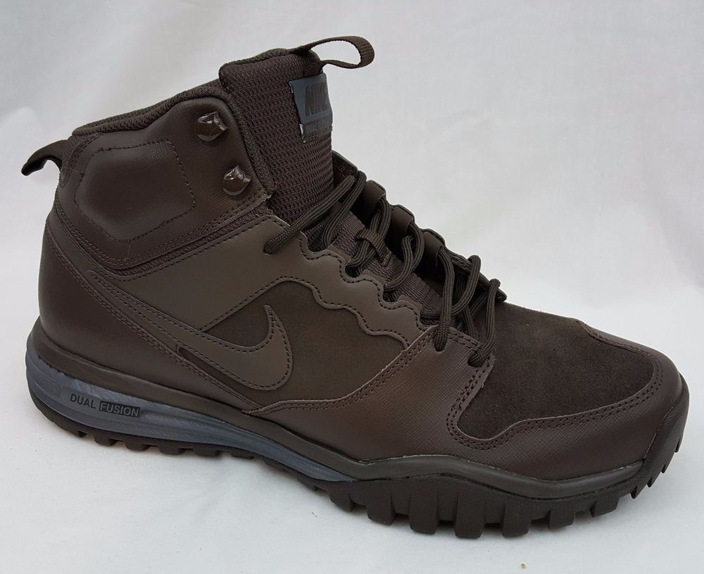 New Men's Nike Dual Fusion Mid Hills Brown Hiking Boots ...
