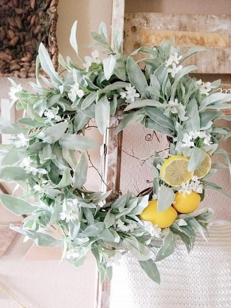 Photo of Lemon Wreath – Sage Wreath – Farmhouse Decor – Spring Decor – Summer Decor – Summer Wreath – Wreaths