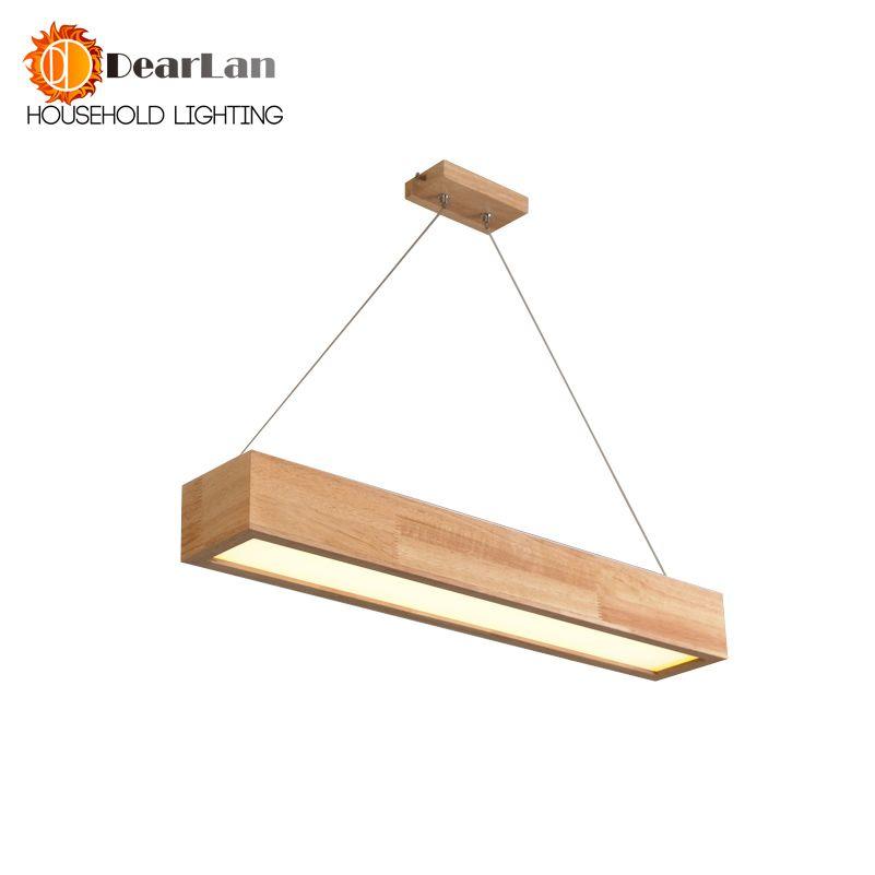 Pas cher 15 W/25 W/30 W LED En Bois Pendentif Lumière Avec Arcrylic ...